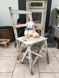 Antique child's chair and steps
