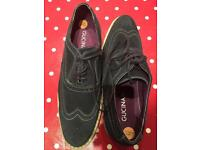 BRAND NEW Guccinari blue suede brogues (size 8)