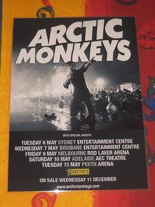 ARCTIC MONKEYS  -  2014  AUSTRALIAN  TOUR  -  PROMO TOUR POSTER