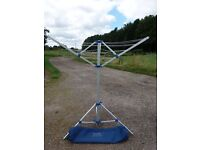 Portable rotary clothes dryer