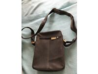 Mans leather shoulder bag