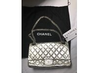 Chanel silver bag large