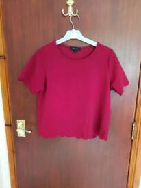 Red top new look size 8