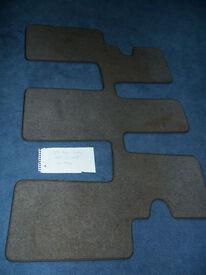 Genuine Peugeot 807 car mat third row seats light grey