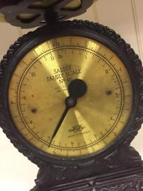 Vintage antique retro SALTER Brass and cast metal Family Scale No. 45 Rare collectable SDHC