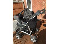 Britax pushchair with car seat and footmuff
