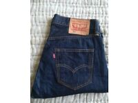 Levi 501 30R dark blue jeans,very good condition,almost new £25