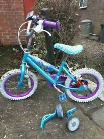 Frozen girls bike 12""