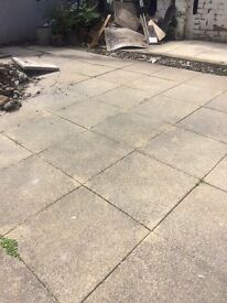 Approx. 30sqm sandstone style patio slabs