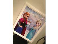 Frozen poster framed