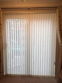 Hillarys Vertical Cream Blinds for Double Doors