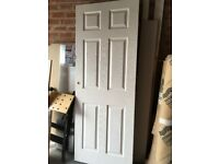 Two Wickes 6-panel Softwood Internal Door Used