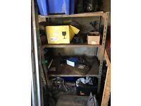 Metal garage or shed shelving units