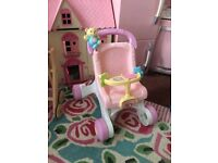 Fisher Price Musical Toys doll Pushchair Walker nw6