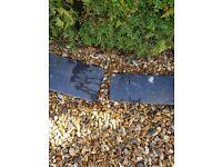 Black slate tiles for garden or indoors