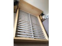 Malm bed from IKEA with mattress