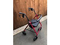 4 Wheel Mobility support Walker frame with seat