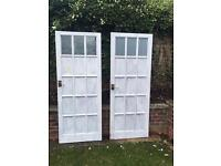 Two internal doors