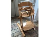 2 Baby Dan child/baby chairs, one complete, one only a chair