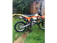 Ktm 150 road legal motocross bike enduro 50 hours