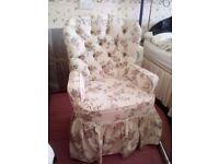Floral bedroom chair