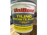 Unibond ready mixed tile adhesive and grout for tiling on concrete or cement screeds - beige