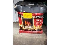 BRAND NEW RADIANT GAS, BRASS FIRE IN BOX