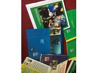 PADI Dive manuals with folders
