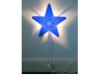 Ikea Star child's wall light / night light / reading light; pretty and safe. VGC