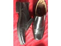 Men's black slip on shoes