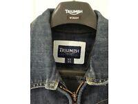 Triumph denim motorcycle jacket