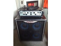 Ashdown ABM 500 head and 4x 10 Cab