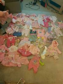 Baby born clothes/dolls/high chair + much more