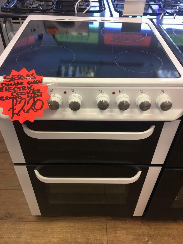 SERVIS 60CM BRAND NEW CEROMIC TOP ELECTRIC COOKERin Bransholme, East YorkshireGumtree - SERVIS 60CM brand new ceromic top Cooker• 60cm wide • Ceromic top • electric cooker • double oven and grill • in white • fully complete • guaranteed • less than 1 year old all our items are in perfect condition and in perfect working...
