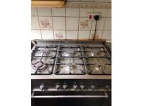 SIX HOB GAS COOKER AND OVEN + GRILL STAINLESS STEEL £149ono BARGAIN