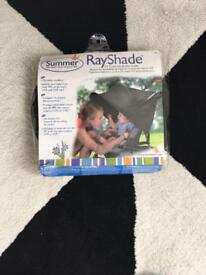 Summer rayshade sunshade for pram.