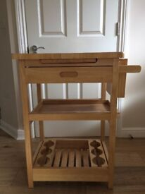 Beautiful Oak Kitchen Cart - IN EXCELLENT CONDITION