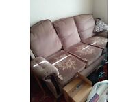 Sofa / settee and matching chairs