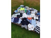 huge bundle of baby boys clothes 0-3 months
