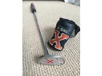 """Scotty Cameron Red X putter in great cond. Fatso 5.0 grip w/ headcover, 33"""" - £90 ono"""