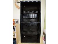 Black Wood / Plastic CD rack holds up to 60 CDs