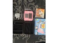 Pink and white Nintendo 2ds with tomodachi pre installed and Pokemon sun