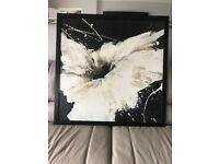 Large Flower Painting Black Frame