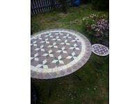 Garden tile top table and 4 chairs