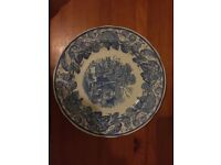 VINTAGE SPODE BLUE ROOM COLLECTION RURAL SCENES COLLECTOR'S PLATE