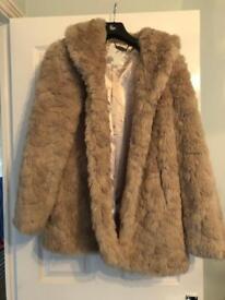 Lovely Women's Fur Coat Size 14 BNWT by RJR
