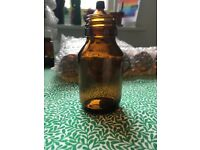 Amber bottles for sale and a few clear ones too