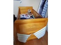 Obaby winnie the pooh cot bed and under cot draw for sale in good condition with mattress