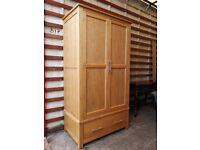 Barker and Stonehouse double Wardrobe made from solid Oak (Delivery available)