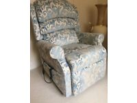 Riser Recliner chair a few months old no longer needed due to illness,5 years warranty.